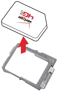 Introducir la tarjeta SIM en la bandeja