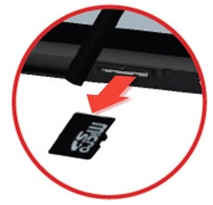 Removal of Memory Card from slot