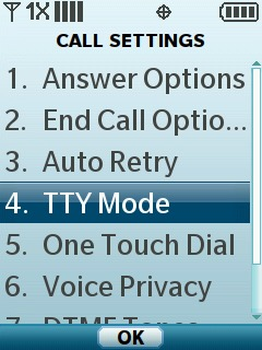 Select TTY Mode