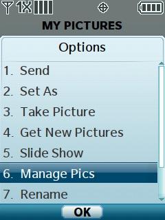 Selecciona Manage Pics