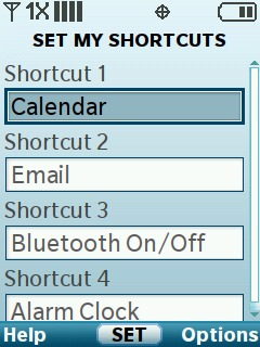 Select a Shortcut