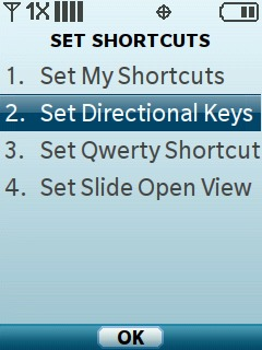 Select Set Directional Keys