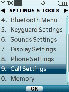 Select Call Settings