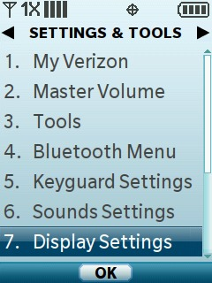 Select Display Settings