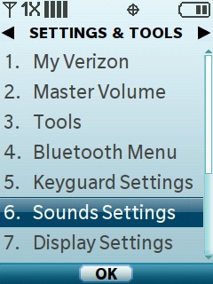 Select Sound Settings