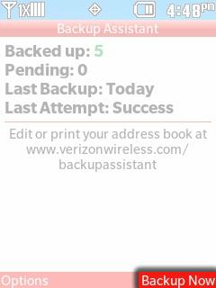 Seleccionar Backup Now