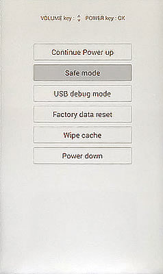 Safe Mode Screen