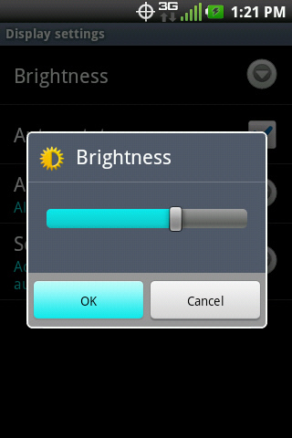 Brightness con OK