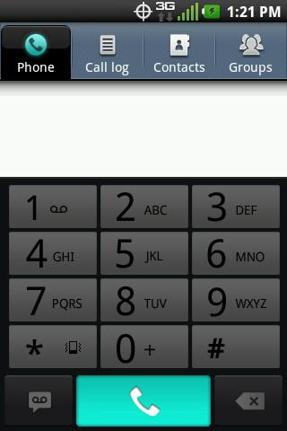 Pestaña Phone con el símbolo de teléfono