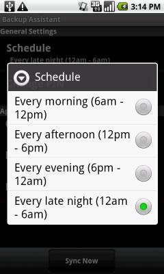 Selecciona el cronograma deseado