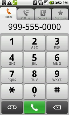 Enter the number then touch the green phone icon