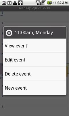 Selecciona Delete Event