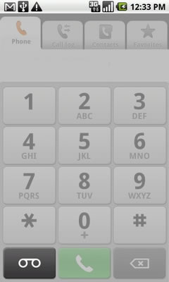 From the Phone tab, touch the voicemail icon