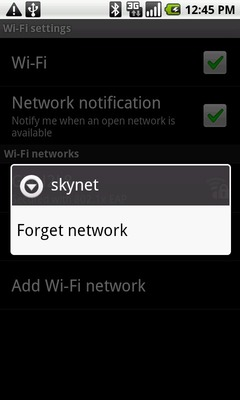 Touch Forget network