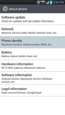 About phone with Phone identity