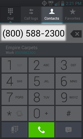 Phone 3 Way Call select the keypad and dial a number or select from contacts