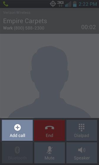En Phone 3 Way Call selecciona Add call