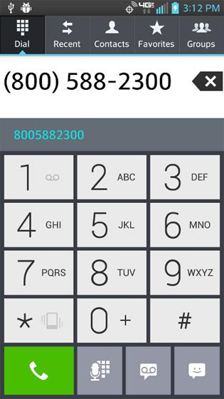 En Phone, selecciona la tecla Phone para ver el último número