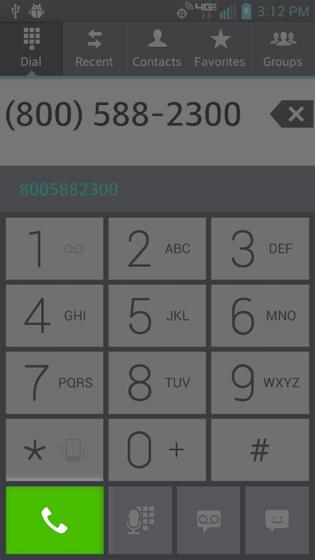 En Phone selecciona la tecla Phone otra vez para volver a marcar el último número