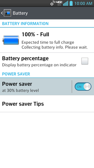 Battery, Power saver