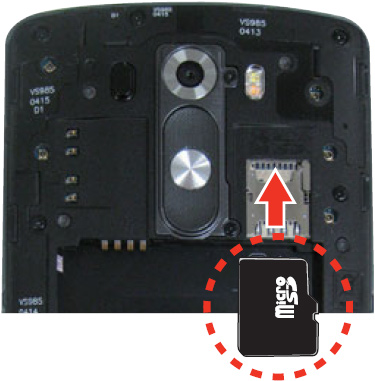 Inserting SD card