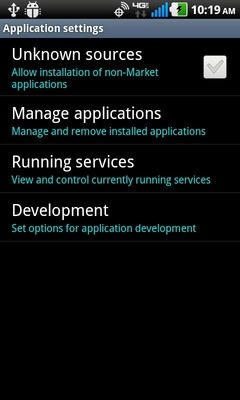 Selecciona Running services