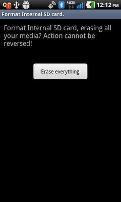 Select Erase everything
