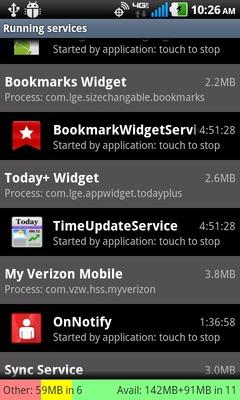 Selecciona el servicio / aplicación