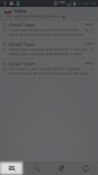 Gmail select Compose