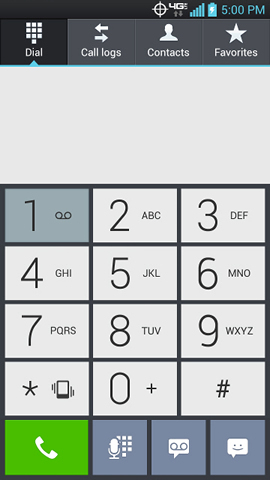 Keypad tab with 1