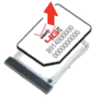 Remove SIM card from tray