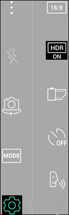 Tap the HDR Icon
