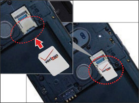 Inserting SIM card