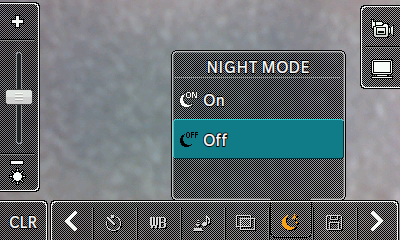 Night mode options