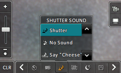Shutter sound options