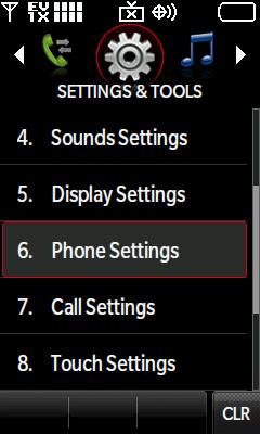 Configuraciones de teléfono