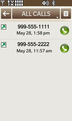 Todas las llamadas