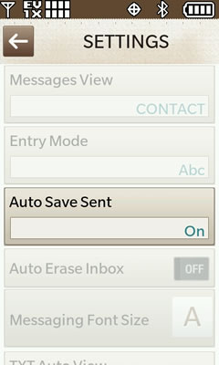 Auto save sent