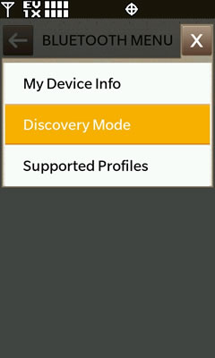 Bluetooth Discovery Mode