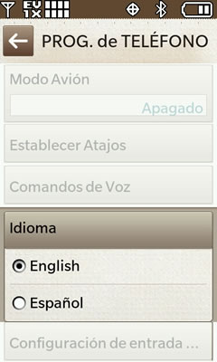 Language Select English