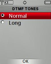 Opciones de tonos DTMF