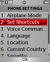Set Shortcuts