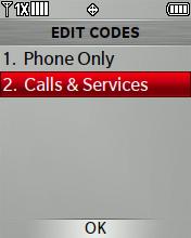 Llamadas y servicios