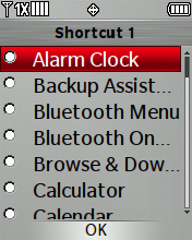Desired Shortcuts Key menu