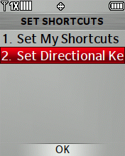 Set Directional Key