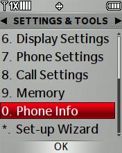 Información del teléfono