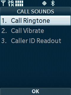 Select Call Ringtone