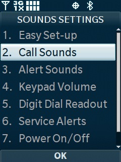Select Call Sounds