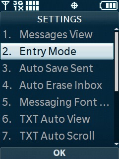 Select Entry Mode
