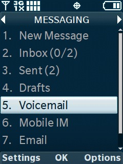 Select Voicemail